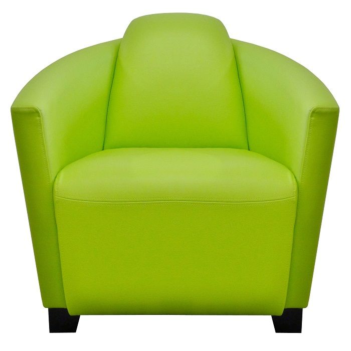Brockton - Contemporary Tub Chair in Agua's Paint Pot Lime with Black leg finish