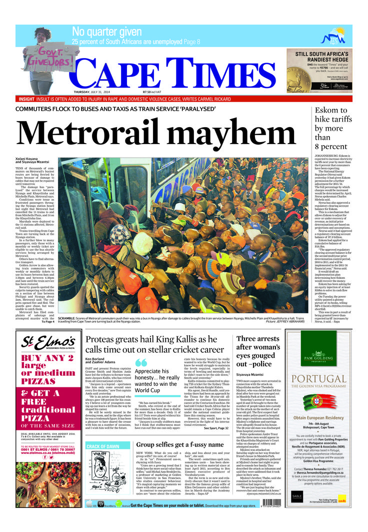 News making headlines: Commuters flock to buses and taxis as train services are paralysed