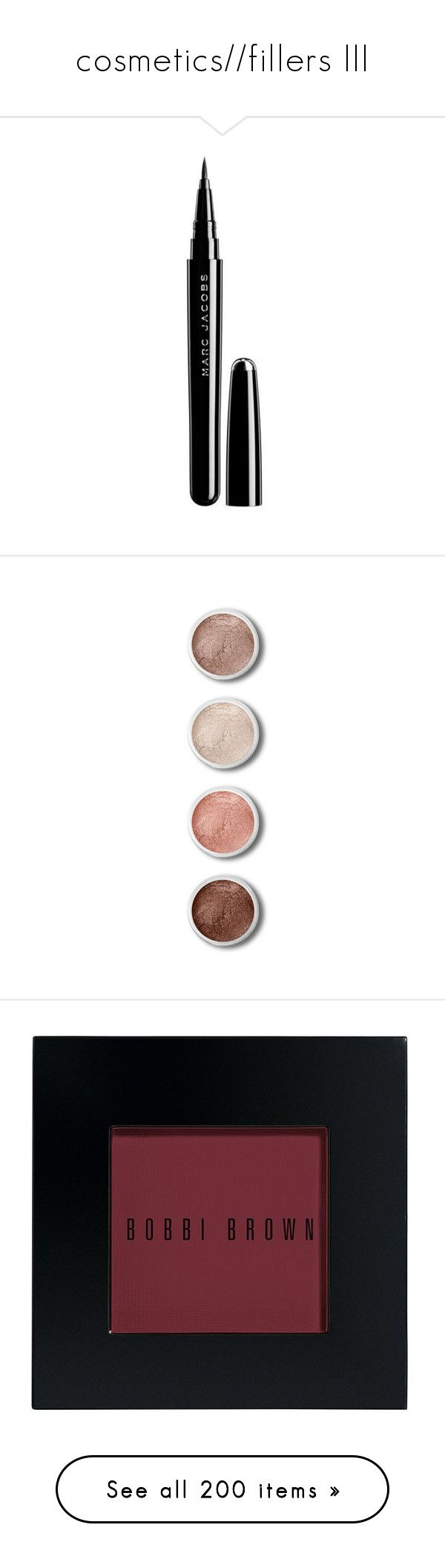 """""""cosmetics//fillers III"""" by melancholiah ❤ liked on Polyvore featuring beauty products, makeup, eye makeup, eyeliner, beauty, eyes, fillers, saying, quotes and phrase"""