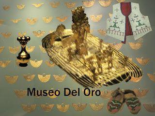 Este simbolo hecho de oro es de origen MUICO, una de las civilizaciones de colombia.  Se encuentra en el Museo de Oro de Colombia.
