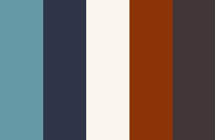 updated retro america color palette with burnt orange. Black Bedroom Furniture Sets. Home Design Ideas