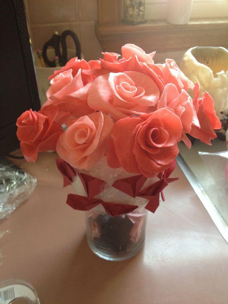 Idea For Valentines Day- edible starburst candy roses.  Starburst Candy Roses 1 by khfreak07.deviantart.com on @deviantART