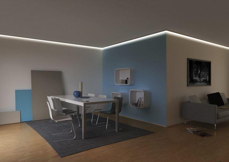 die besten 25 indirekte beleuchtung ideen auf pinterest led deckenleuchten seitenbeleuchtung. Black Bedroom Furniture Sets. Home Design Ideas