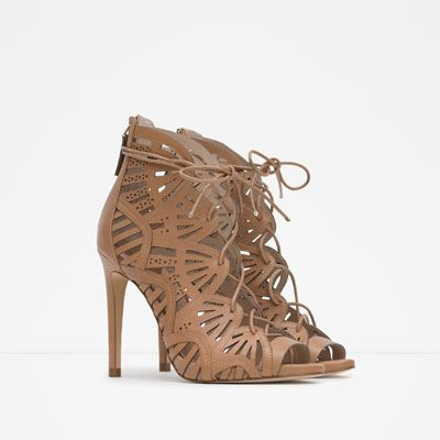 Image 5 of WRAPAROUND LEATHER SANDAL from Zara