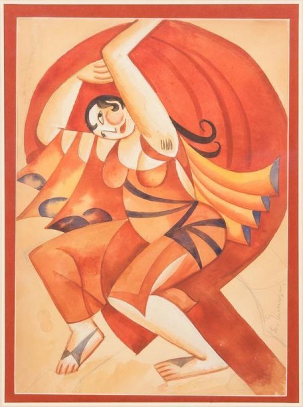ЧЕЛИЩЕВ Павел Фёдорович (1898–1957) Вакханка. Эскиз театрального костюма…