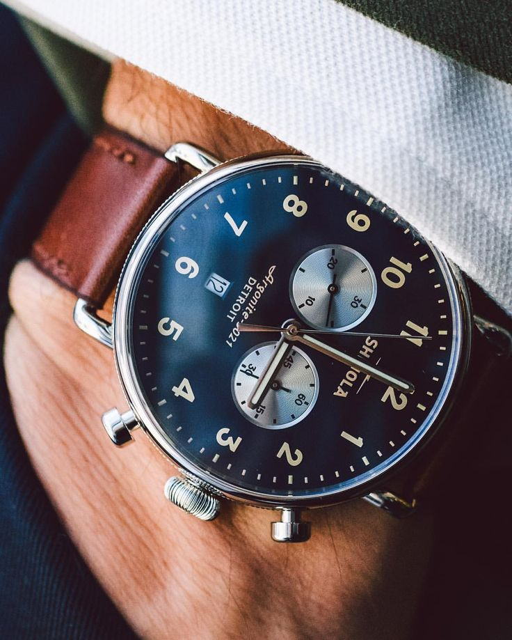"""GQ on Instagram: """"@Shinola's newest watch is perfect for guys who want something eye-catching, but not too complicated. Check out more at the link in bio. ( @andrewleegoble) #WOTW"""""""