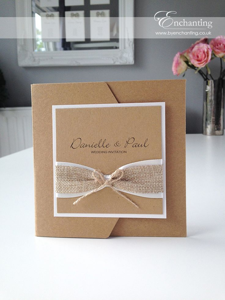 how to make handmade wedding invitations