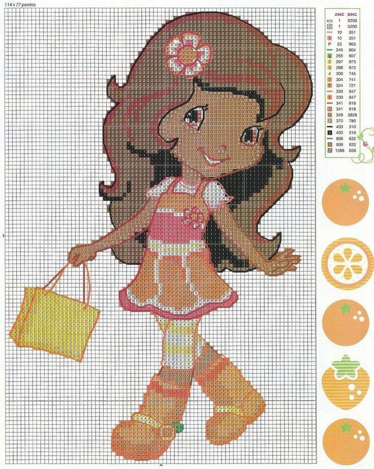 Orange Blossom cross stitch - strawberry shortcake