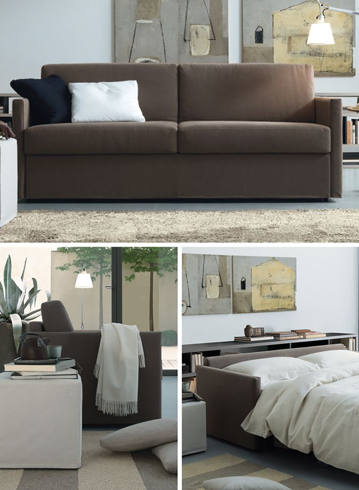 Luis is a comfortable and practical sofa-bed with wood structure and highly  resistant mattress