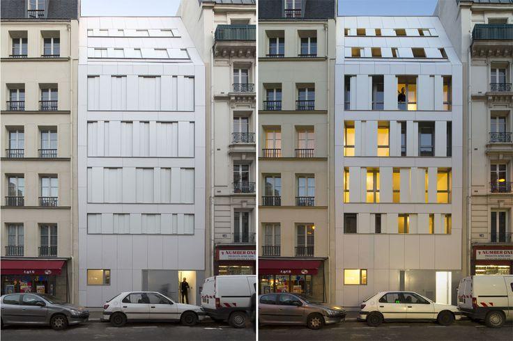 Maast Architectes, Residence Poissonniers, Parigi, Francia