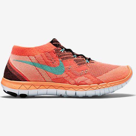 Nike Free 3.0 Flyknit Black, Hot Lava, Bright Mango, Hyper Turquoise 4