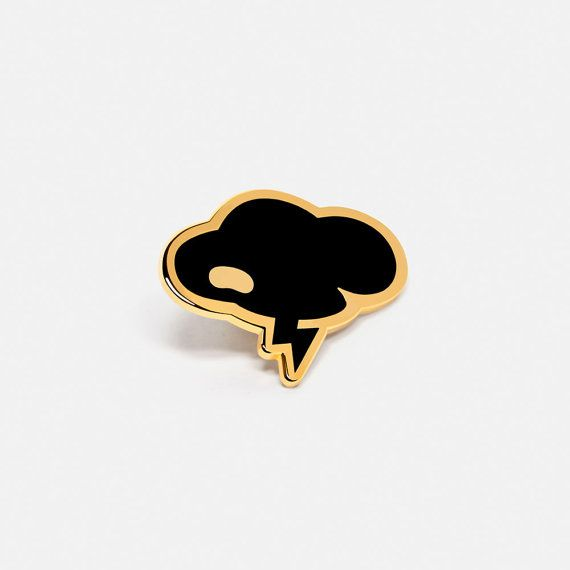 Cloud: Coco Black Lapel Hat Pin by BeanIt on Etsy