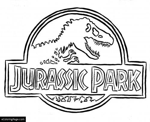 jurassic park logo coloring page dibujo | Free Coloring Pages for ...