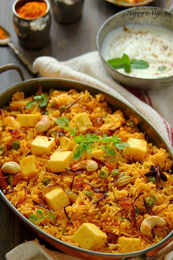 Paneer Dahi Pulao Recipe Paneer Recipes Indian Vegetarian