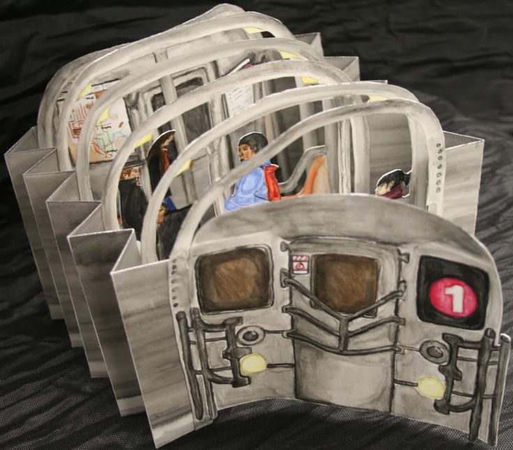 Subway Tunnel Book by rebeccasuhaetty. Watercolor, Rice Paper. 2008