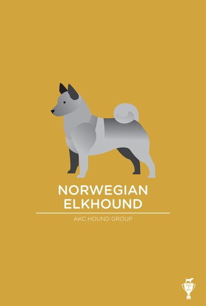Norwegian Elkhound Art Print by Bethany Ng