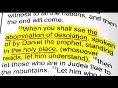 The Third Temple Abomination of Desolation Bible Study https://youtu.be/n67Cac_4OHk #thethirdtemple #3rdtemple Matthew 24:15 (KJV) When ye therefore shall see the abomination of desolation, spoken of by Daniel the prophet, stand in the holy place, (whoso readeth, let him understand) Daniel 9:27 (KJV) And he shall confirm the covenant with many for one week: and in the midst of the week he shall cause the sacrifice and the oblation to cease, and for the overspreading of abominations he shall…