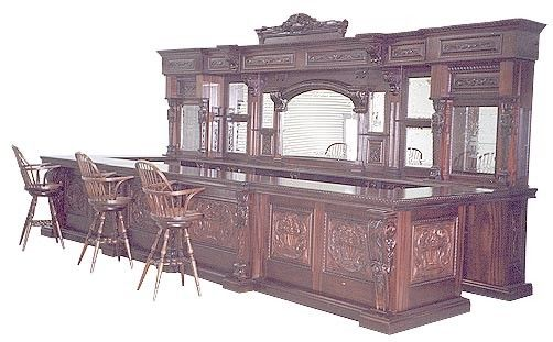 Antique front bars for sale large mahogany bar mahogany for Wooden nickel cabins