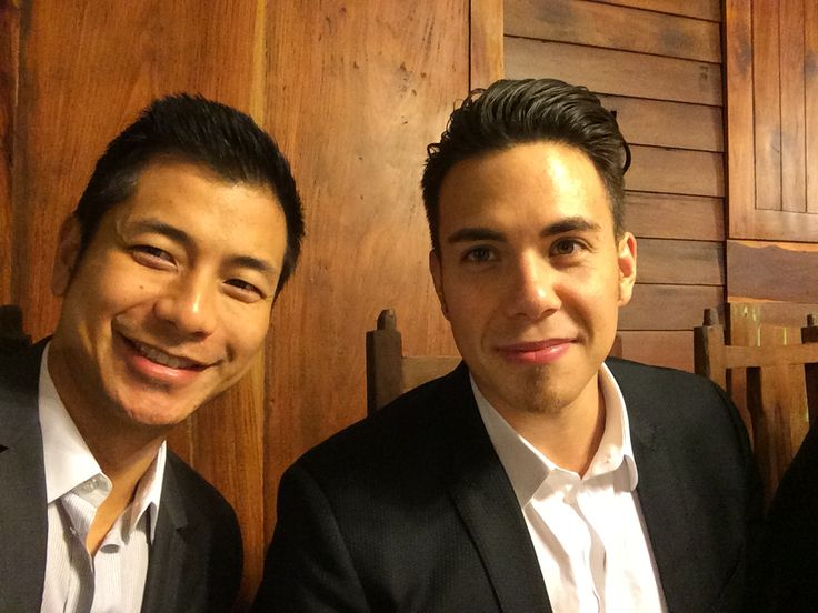 Rod Jao and Apolo Ohno