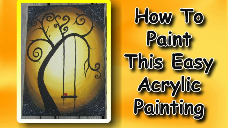 step by step acrylic painting for beginners | EasyMeWorld: How To Paint An Easy Acrylic Painting For Beginners
