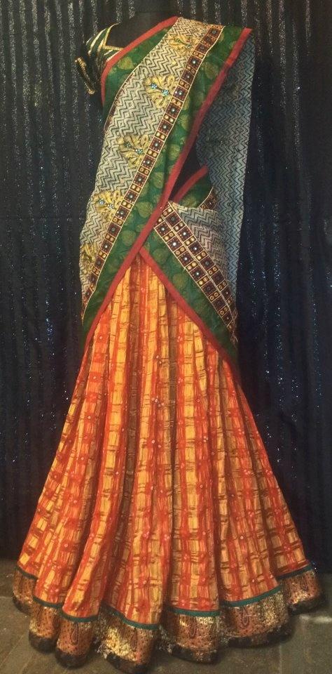 cotton half saree - Bhargavi Kunam Design!