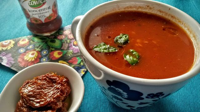Kuchenne potyczki Alergiczki: Pomidorowa z soczewicą i suszonymi pomidorami