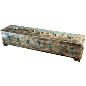 Large Mantle Turquoise Embellished Box