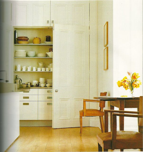 Jasper Conran panelled Kitchen Storage by ANn Boyd