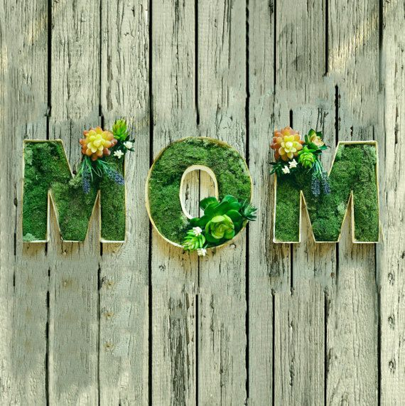 Succulents MOM Letters Succulents letter gift by RishStudio
