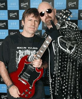 Bruce Dickinson and Rob Halford. Two of the best in the business! \m/