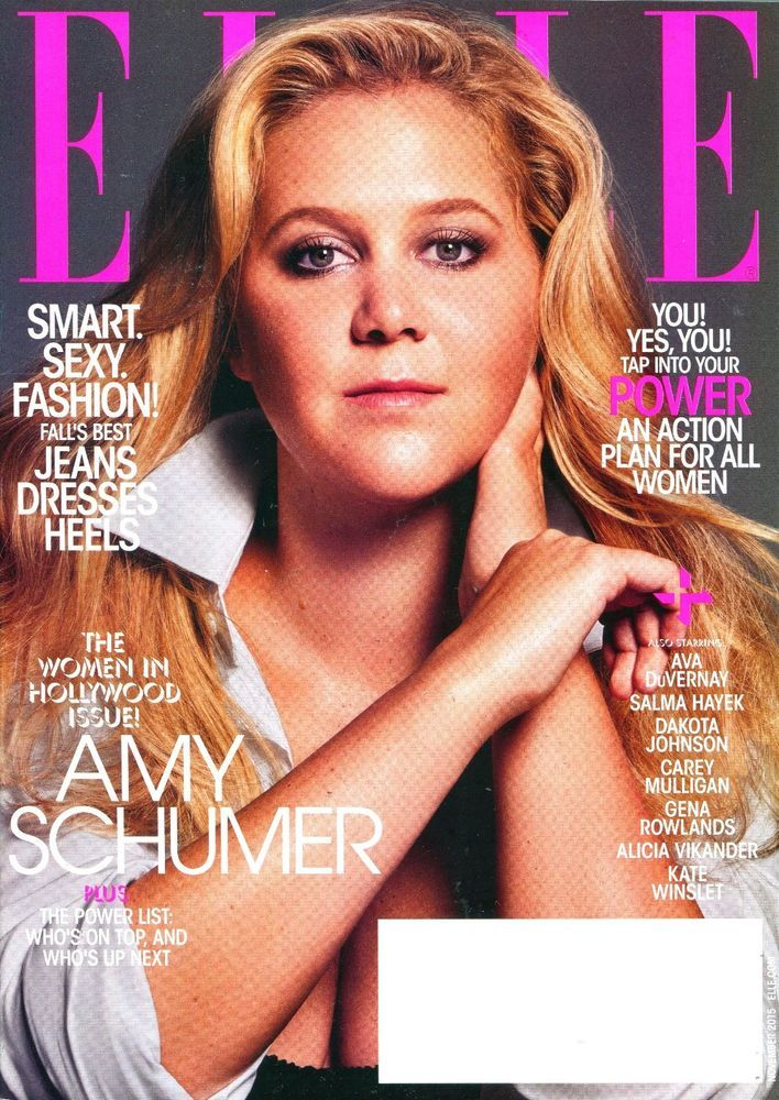 ELLE Magazine November 2015 - AMY SHUMER Cover, Women in Hollywood Issue - NEW