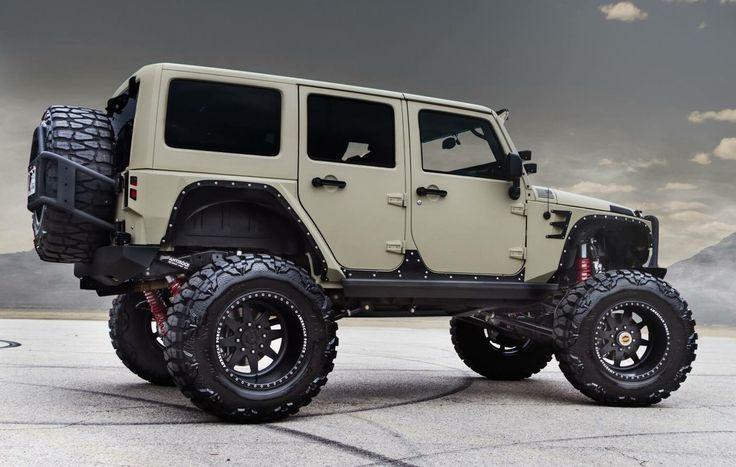 Jeep Wrangler Unlimited in Desert Tan