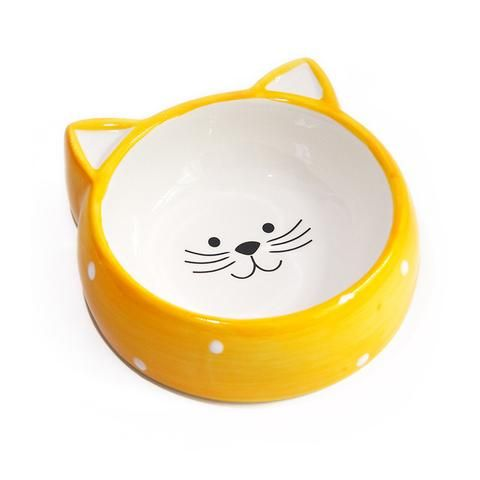Polka Dot Cat Bowl