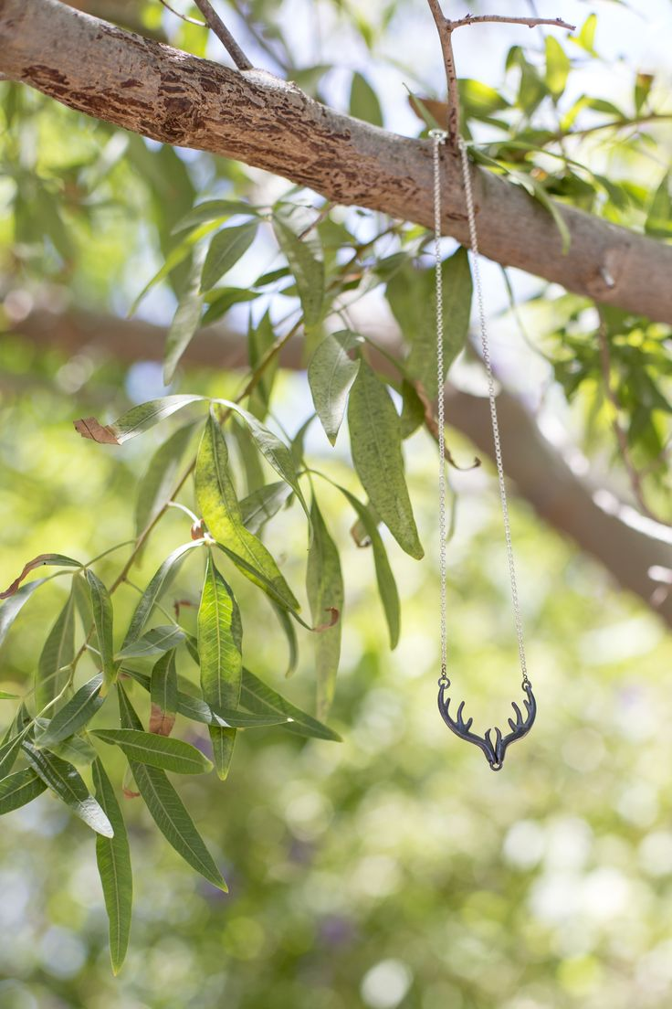 Forest Fever | Antler Necklace | Oxidized silver