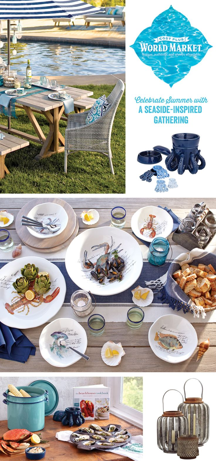 Nothing says summer like a seafood feast. Turn on the stockpot and set the scene with a coastal vibe that will make you want to celebrate all summer long. #WorldMarket #CelebrateOutdoors