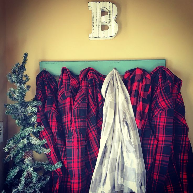 Winter bridesmaid flannels