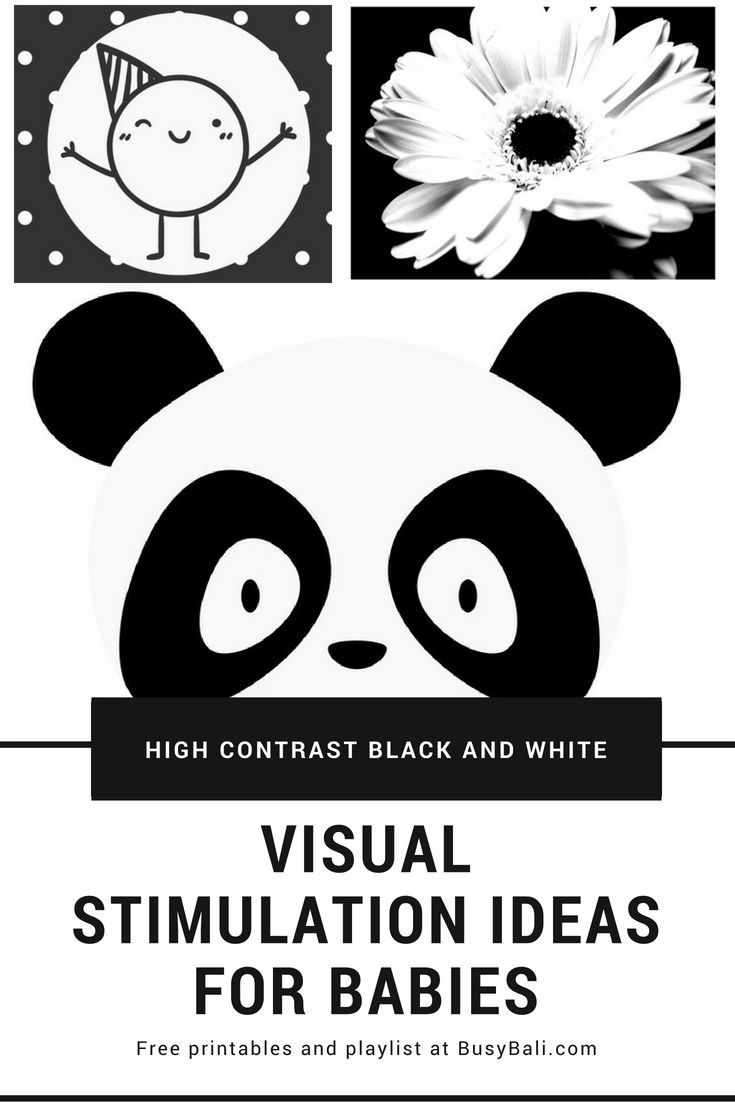 Printable high contrast pictures for infant visual stimulation and development infant montessori baby room pictures baby black white baby