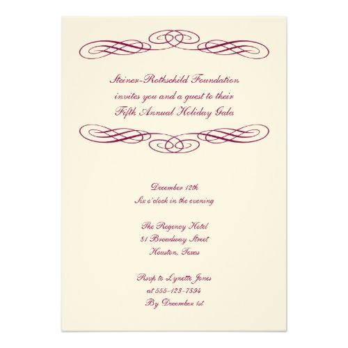 8 best charity ball invites images on pinterest invitation cards shop blue ribbon script corporate formal gala event card created by fidesdesign stopboris Images