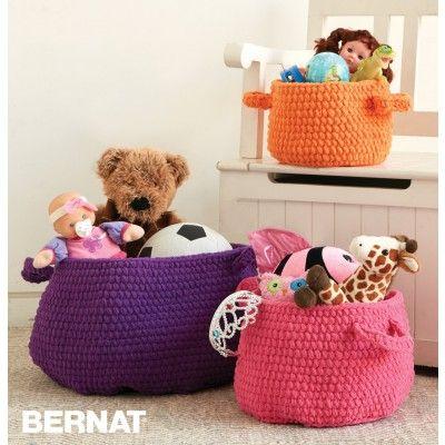 Free Easy Baskets Crochet Pattern