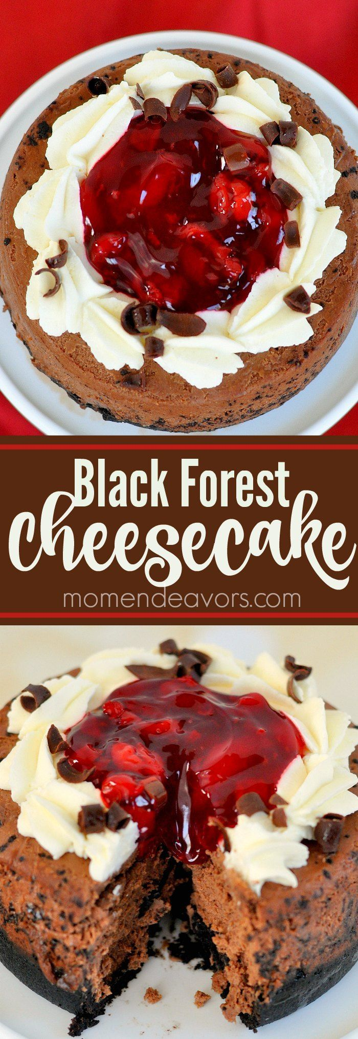 Black Forest Cheesecake - a delicious, decadent dessert.