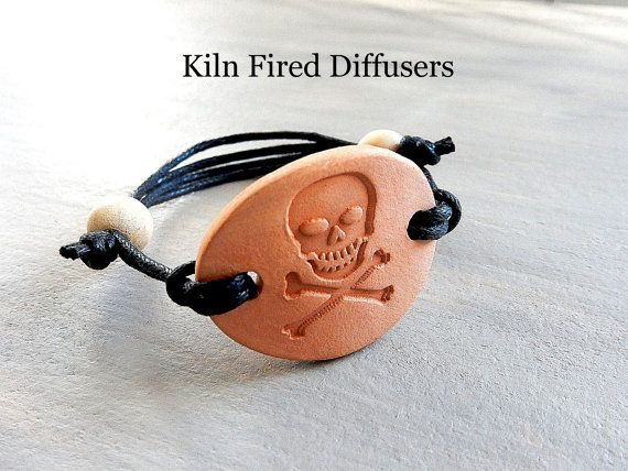 Skull Diffuser Bracelet Aromatherapy by KilnFiredDiffusers on Etsy