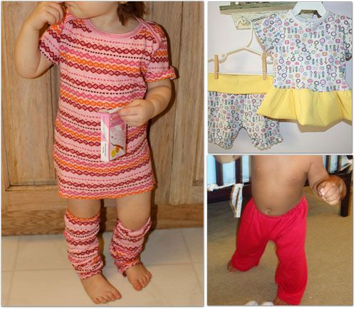 LOVE the dress & matching leg warmers DIY from a girls tshirt - casha