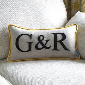 Colour Flash Couples Initials Cushion - view all sale items