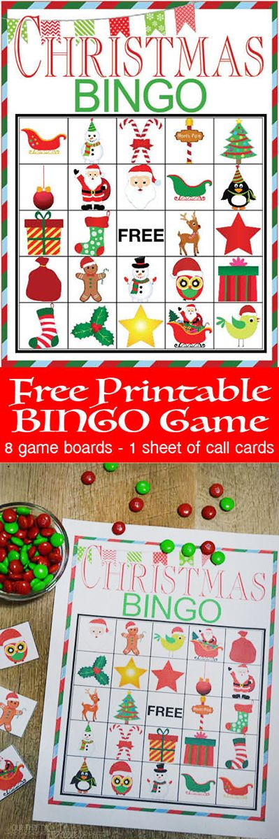 Free Printable BINGO game cards. This is everything you need to start the tradition of playing games together for the holidays. (Christmas Kids Games)
