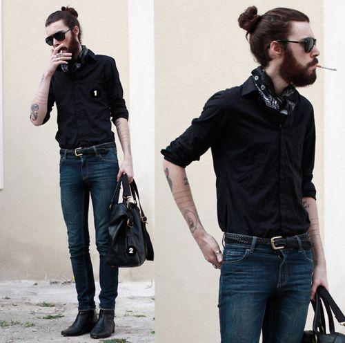 mmmmhmmm!: Beards, Hair Bun, Guy, Long Hair, Man Buns, Hair Style, Tattoo