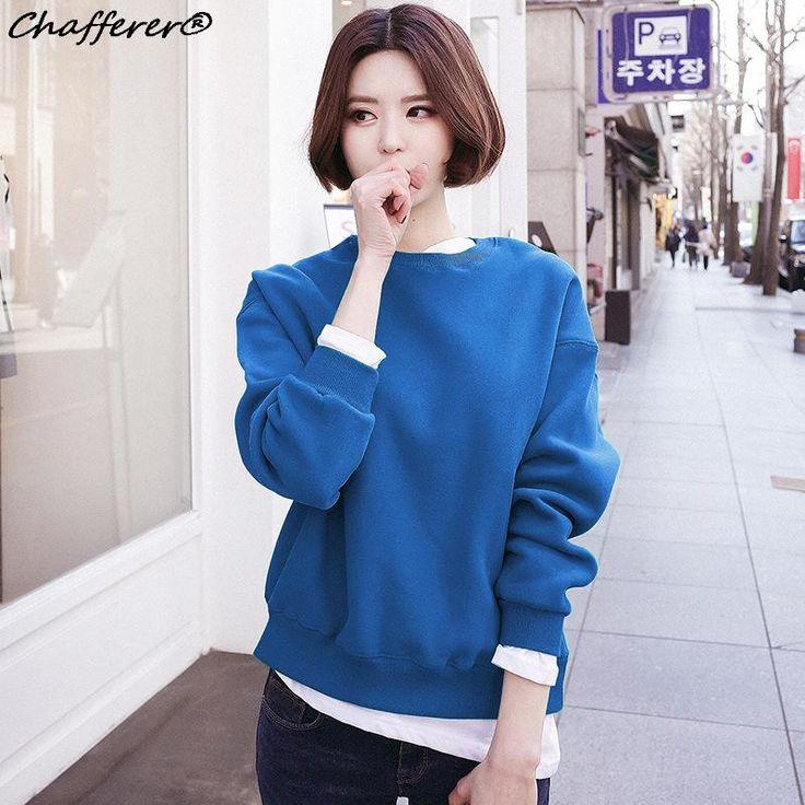 Chafferer Harajuku Style Kawaii Autumn Winter Ladies Sweatershirt 2017 Fashion O…