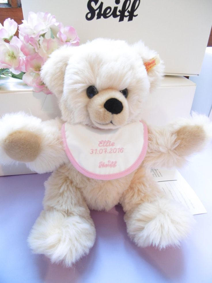 20 best ellie carlisle gifts girls christening gifts images on steiff 28cm teddy with personalised bib baby girl christening gift negle Gallery