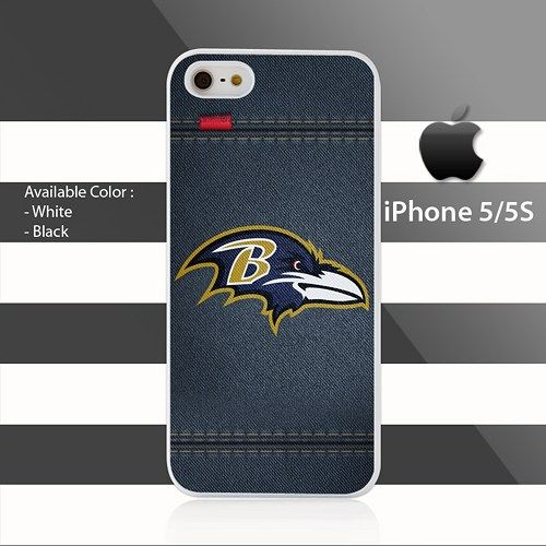 Baltimore Ravens leather Line Stripes iPhone 5 5s Case Cover