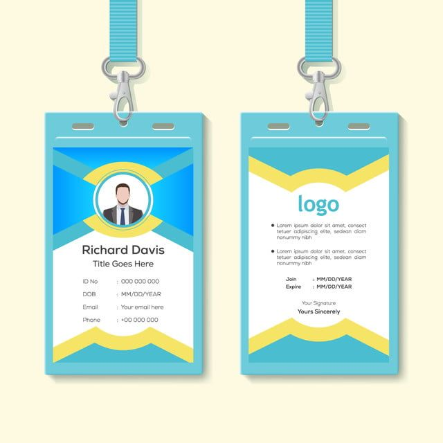 قالب تصميم بطاقة هوية مكتب الشركة بسيط موجات النمط