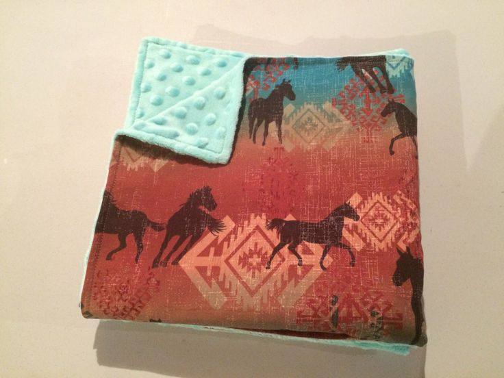 Best 25 western baby bedding ideas on pinterest farm baby handmade western horse baby blanket navajo print baby blanket teal minky baby bedding negle Choice Image